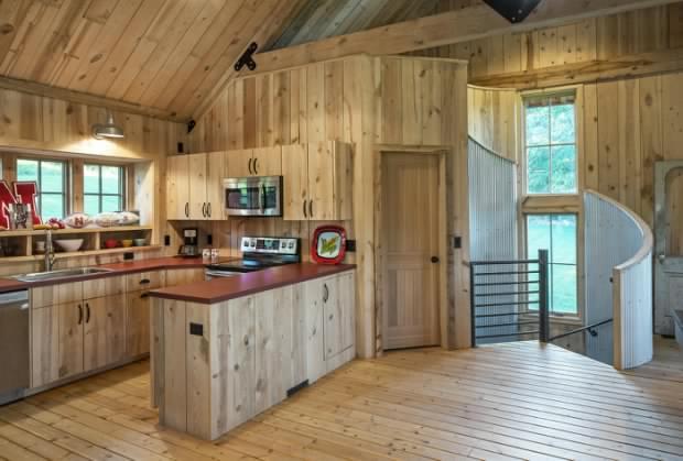 Barn style home interior