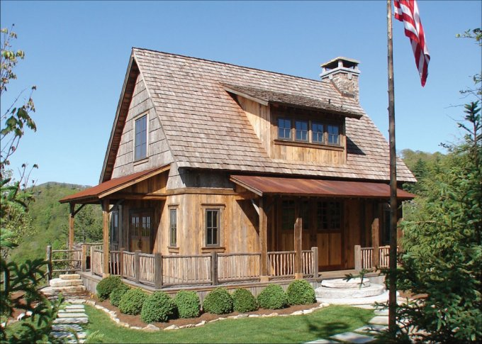 Custom built cabin award winning design cozy homes life Custom cottage homes