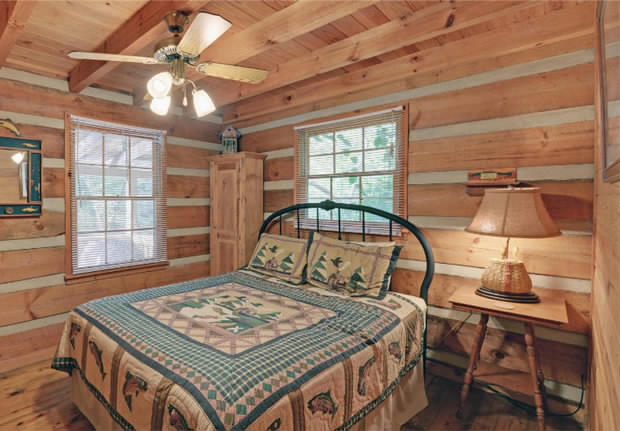 Dream log cabin bedroom