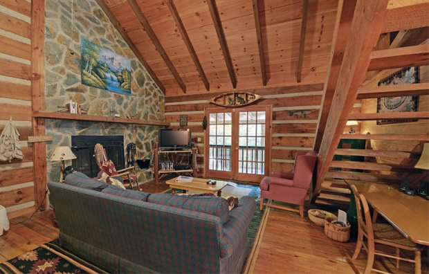 Dream log cabin interior