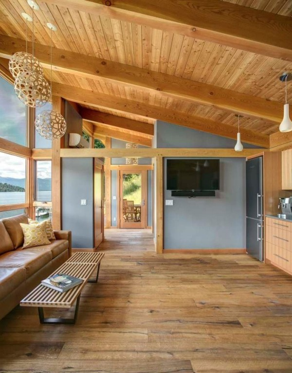 Prefab timber cabin