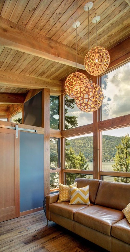 Prefab timber cabin interior