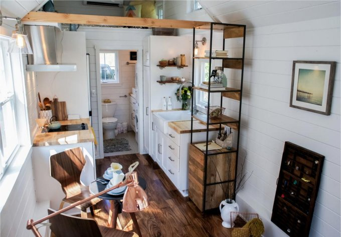 Country style tiny home interior