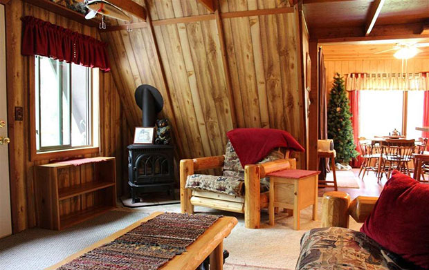Cozy a frame cabin on 11 acres for sale cozy homes life for A frame cabin interior