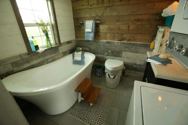 Country tiny house interior