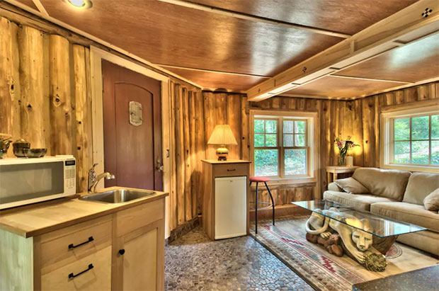 Lake cabin interior
