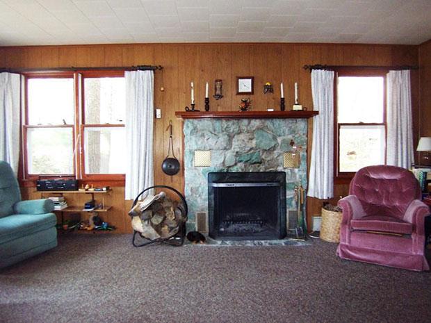 Lakefront cabin interior