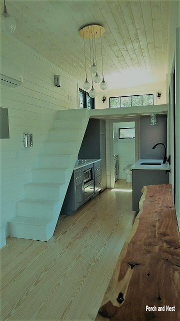 Modern cozy tiny house interior