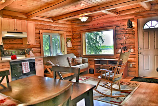 Cozy Alaska Log Cabin In The Woods - Cozy Homes Life