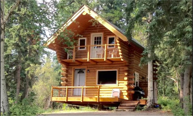 Cozy alaska log cabin in the woods cozy homes life for Alaska cottage