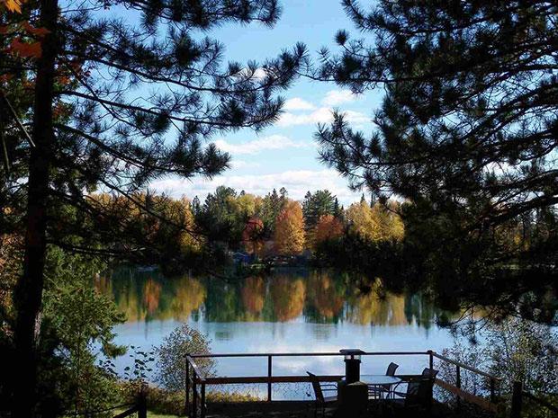 Cozy cabin lake view