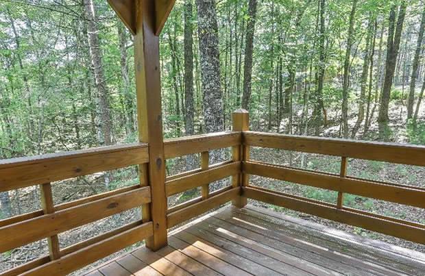 Mountain cabin porch