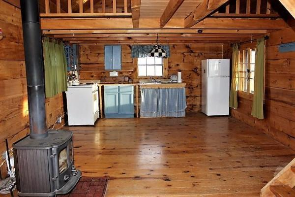 Amish log cabin interior