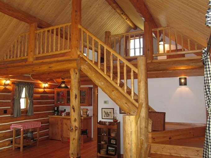 Montana log cabin interior