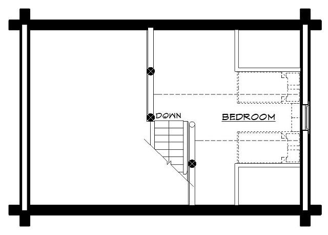Montana log cabin floor plan