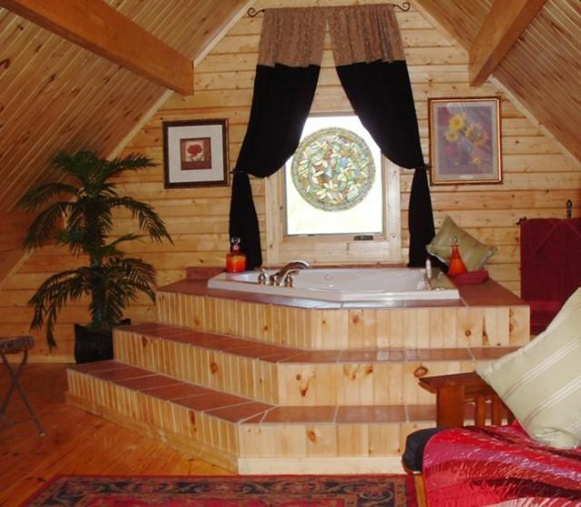 Mountain king cabin bathroom