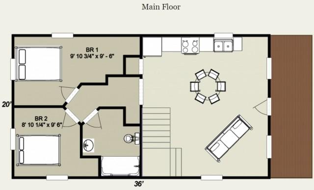 Mountain king cabin floor plan