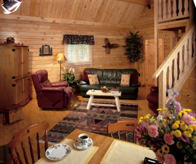 Mountain king cabin interior