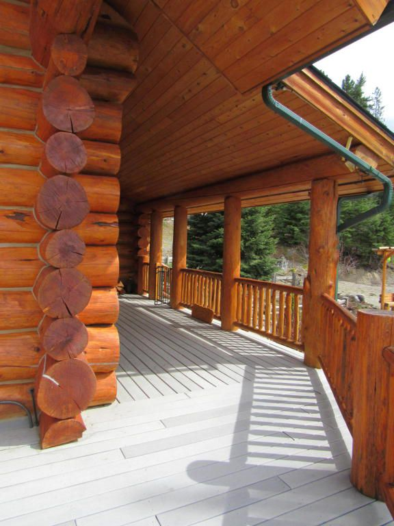 Montana log cabin porch
