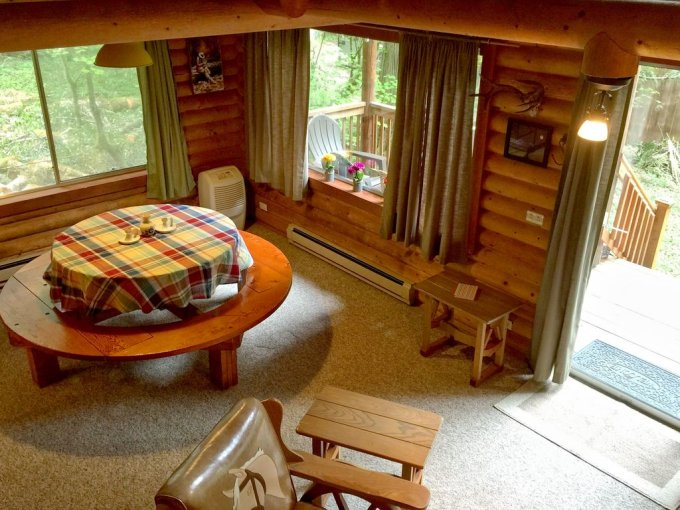 Cozy cabin inside