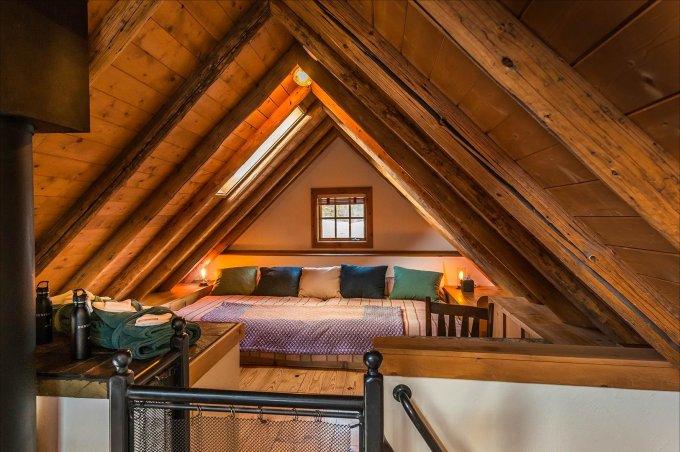 Hot springs cabin interior