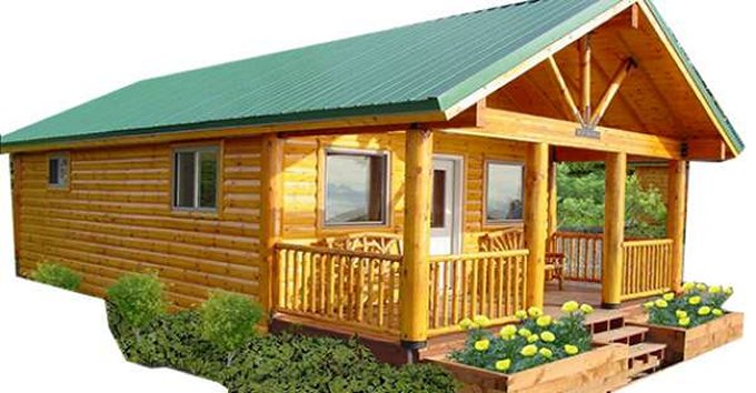 Timber log cabin