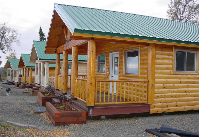 Timber log cabins