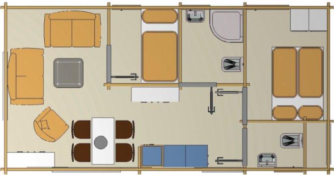 Cozy cabin floor plan