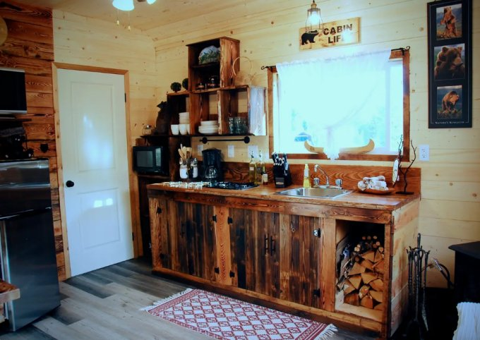 Mountain cabin kitchen