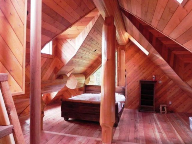 Lakeside cabin bedroom