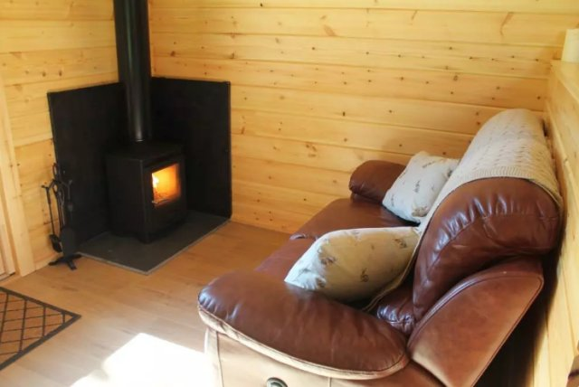 Nice cabin fireplace