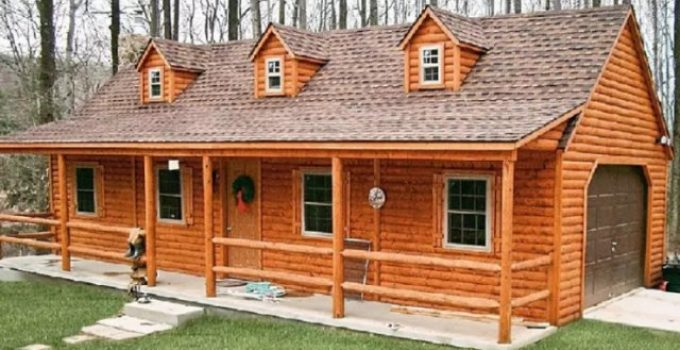 Log siding cabin