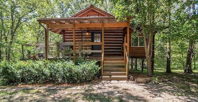 Acreage log cabin