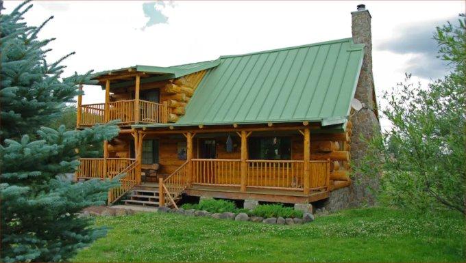 Ponderosa log cabin