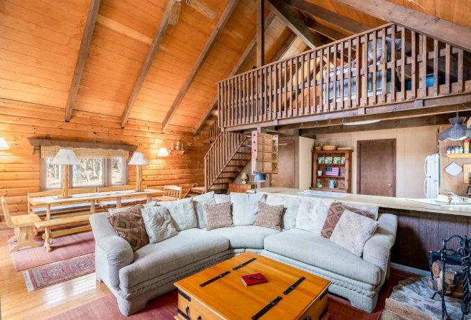 Cozy cabin inside
