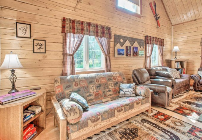 North Pole log cabin inside