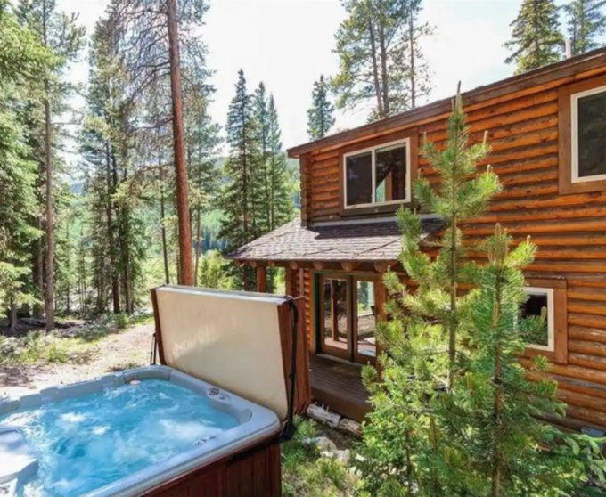 Cabin in the Rocky Mountains