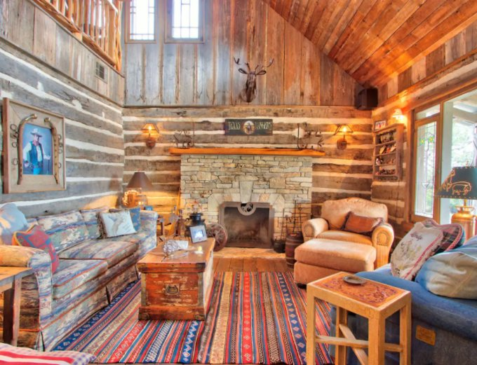 Country log cabin