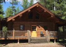 Log cabin in Montana