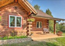 North Pole log cabin